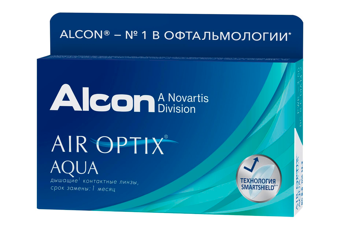 Контактные линзы Air Optix Aqua (3) - 1
